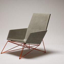 Modern Muskoka Concrete Chair with Orange Base -