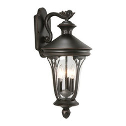 DHI-Corp - Corbett Outdoor Downlight, 10.63-Inch by 22.75-Inch, Oil Rubbed Bronze - The Design House 516757 Corbett Outdoor Downlight greets your guests at the door with a soft, inviting glow. Finished in oil rubbed bronze with clear seeded glass, this outdoor sconce has curved lines and a lantern construction for a vintage appeal. The soft, intricate details make this fixture look like it came from an antique shop without the upkeep or high costs. Measuring 10.63-inches by 22.75-inches, this lamp matches brick, stone, wood paneling or aluminum siding. This wall mount uses (3) 60-watt medium base candelabra lamps and is rated for 120-volts. UL listed and UL approved for wet areas, this downlight will not break or rust in adverse conditions. Coordinate your home with fixtures and furnishings from the Corbett collection for a complete look. The Design House 516757 Corbett Outdoor Downlight comes with a 10-year limited warranty that protects against defects in materials and workmanship. Design House offers products in multiple home decor categories including lighting, ceiling fans, hardware and plumbing products. With years of hands-on experience, Design House understands every aspect of the home decor industry, and devotes itself to providing quality products across the home decor spectrum. Providing value to their customers, Design House uses industry leading merchandising solutions and innovative programs. Design House is committed to providing high quality products for your home improvement projects.