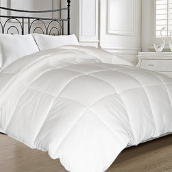 None - All-Season Microfiber Feather-Blend Comforter - Experience true luxury sleeping with this all-season micro fiber feather comforter. This comforter will keep you warm in the cold winter months and nice and cool in the hot summer months.