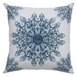 """Rizzy - Rizzy T05018 Pillow, 18"""" x 18"""" - Pillow with Hidden Zipper"""
