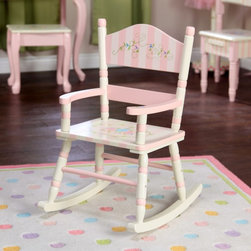 Fantasy Fields - Fantasy Fields Bouquet Girls Rocker - W-3847F - Shop for Childrens Rocking Chairs from Hayneedle.com! Bouquet Girls Rocker by Teamson Design This special little rocker will be sure to make your little one love having a chair of her own to rock in watch tv or pretend to read to her own favorite toys. The pink and white stripes and flower pattern make a lovely additon to any room. Made of solid wood you'll know it's sturdy enough to withstand a toddlers use. Enjoy watching the look on her face when she sees her own new rocking chair for the first time.