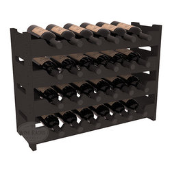 24 Bottle Mini Scalloped Wine Rack in Pine with Black Stain - Stack four 6 bottle racks with pressure-fit joints for proper storage of 24 wine bottles. This rack requires no hardware for assembly and is ready to use as soon as it arrives. Makes the perfect gift and stores wine on any flat surface.