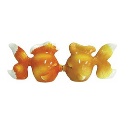 WL - 2.5 Inch Kitchenware Utensils Orange Goldfish Salt and Pepper Shakers - This gorgeous 2.5 Inch Kitchenware Utensils Orange Goldfish Salt and Pepper Shakers has the finest details and highest quality you will find anywhere! 2.5 Inch Kitchenware Utensils Orange Goldfish Salt and Pepper Shakers is truly remarkable.