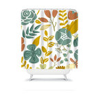 Shower Curtain Flower 71x74 Bathroom Decor Made in the USA - DETAILS: