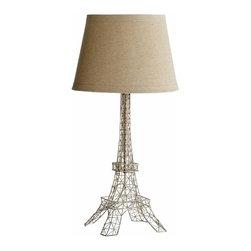 Satin Nickel Eiffel Tower Table Lamp - *Eiffel Table Lamp