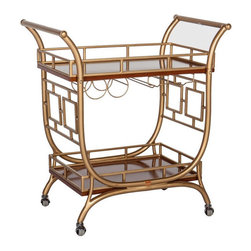 The Devlin Bar Cart - Have you seen Society Social's bar carts? They're so fun and would make dressing up any room for the holidays a snap.