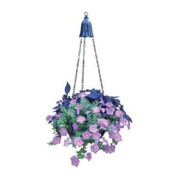 Coleman Cable - Hanging Planter Light - MOONRAYS--Hanging Planter Light. Shine some light on your favorite hanging plant. Kit includes metal light, chains, and hooks to attach to basket you have at home.1 super bright warm white LED per fixture - 10 Lumen, 1 x 600mAh AA NiCd rechargeable battery included. Metal construction with black finish. Runs up to 8 hours on a full charge 1 solar planter light per color box.