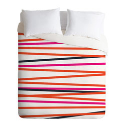 DENY Designs - Khristian A Howell Crew Stripe Warm Duvet Cover - Turn your basic, boring down comforter into the super stylish focal point of your bedroom. Our Luxe Duvet is made from a heavy-weight luxurious woven polyester with a 50% cotton/50% polyester cream bottom. It also includes a hidden zipper with interior corner ties to secure your comforter. it's comfy, fade-resistant, and custom printed for each and every customer.
