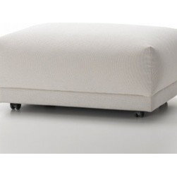 Vitra - Vitra   Place Ottoman - Design by Jasper Morrison, 2008. A modern interpretation of a classic ottoman, the Place Ottoman designed by Jasper Morrison is the perfect compliment to any Place Sofa. With carefully chosen proportions, the Place Ottoman is stylish and comfortable without the addition of decorative frills. Highly precise details and finishing keep the Place Ottoman attractive without compromising comfort. Available in eight different fabrics and a wide-range of colors.