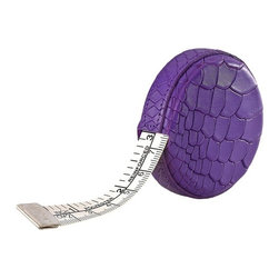 Purple Tape Measure - Embossed Python - Measurements are a breeze with this handy tape measure.