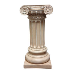 Casa de Arti - Classic Greek Ionic Pillar with Platform Pedestal Column Home Decore Art - Beautiful pillar perfect for your garden decor, or home decor, at an incredible price!