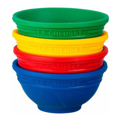 Le Creuset - Le Creuset Silicone Pinch Bowls, Set of 4 - From staging to serving, Le Creuset silicone pinch bowls are a colorful solution for keeping ingredients organized and separating individual portions of sauces or dressing for pouring or dipping. These cup bowls are perfect for countless uses in the kitchen and at the table  and, like all Le Creuset silicone, are easy to keep clean.