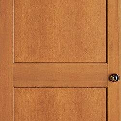 Authentic Wood Doors - Vertical Grain Douglas Fir Flat Two Panel Square