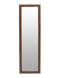 Bryght - Lan Cocoa Full Length Mirror - The classic and elegant style of the Lan full length mirror is sure to brighten any home decor.
