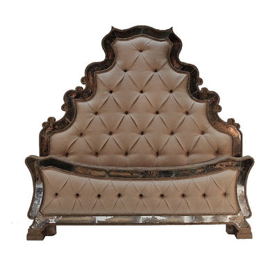 Beds - An ornate tufted upholstered bed offered from The Koenig Collection. You can see more furniture and accessories at a local Houston showroom!