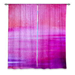 """DiaNoche Designs - Window Curtains Unlined - Iris Lehnhardt Infusion of Colour I - DiaNoche Designs works with artists from around the world to print their stunning works to many unique home decor items.  Purchasing window curtains just got easier and better! Create a designer look to any of your living spaces with our decorative and unique """"Unlined Window Curtains."""" Perfect for the living room, dining room or bedroom, these artistic curtains are an easy and inexpensive way to add color and style when decorating your home.  The art is printed to a polyester fabric that softly filters outside light and creates a privacy barrier.  Watch the art brighten in the sunlight!  Each package includes two easy-to-hang, 3 inch diameter pole-pocket curtain panels.  The width listed is the total measurement of the two panels.  Curtain rod sold separately. Easy care, machine wash cold, tumble dry low, iron low if needed.  Printed in the USA."""