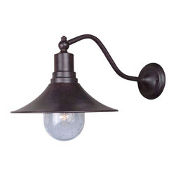 World Imports - Brandon 1-Light Outdoor Lantern, Bronze - One light