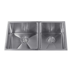 "Miseno - Miseno 32"" Undermount Double Basin Stainless Steel Kitchen Sink 60/40 Split 16G - Included Free with Your Miseno Sink:"