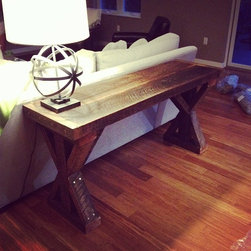 Reclaimed Wood Console Table - Reclaimed Wood Console Table