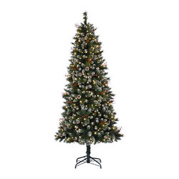 Snow-Kissed Pine Christmas Tree - A TOUCH OF GENTLE WINTER BEAUTY IN TREE CLASSICS' SNOW KISSED PINE CHRISTMAS TREE