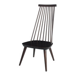 Tapered High-Back Windsor Chair - A unique solution to the seating problem in your home, we love this chair for its classic style and  interesting design. Reminiscent of the Frank Lloyd Wright high-back, our version uses the same concept in the Windsor design.