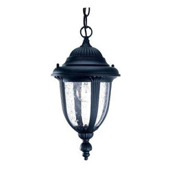 Acclaim Lighting - Outdoor Lanterns. Monterey Collection Hanging Lantern 1-Light Outdoor Matte Blac - Shop for Lighting & Fans at The Home Depot. The Monterey collection 1-light hanging lantern is made of durable cast aluminum. The globe is clear seeded glass. This lantern design will compliment many different architectural styles.