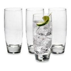 Luigi Bormioli - Luigi Bormioli Michelangelo 14 1/2-Ounce Beverage Glasses (Set Of 4) - The simple, classic design of this blown, lead-free crystal glassware will make you want to use it everyday.
