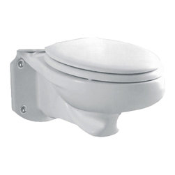American Standard - American Standard 3402.016.020 Glenwall Elongated Bowl,  White - American Standard 3402.016.020 Glenwall Elongated Bowl,  White. This elongated bowl is designed for use with the 2093.100 Model Glenwall Pressure Assisted Wall-Mounted Toilet.