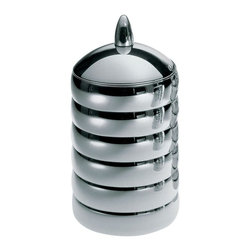 "Alessi - Alessi ""Kalisto 2"" Kitchen Box - Jar in 18/10 stainless steel, mirror polished, with knob in aluminium."
