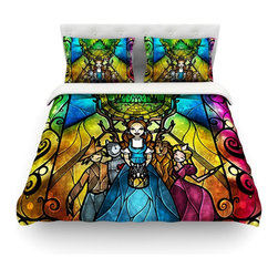 "Kess InHouse - Mandie Manzano ""Wizard of Oz"" Fantasy Cotton Duvet Cover (Twin, 68"" x 88"") - Rest in comfort among this artistically inclined cotton blend duvet cover. This duvet cover is as light as a feather! You will be sure to be the envy of all of your guests with this aesthetically pleasing duvet. We highly recommend washing this as many times as you like as this material will not fade or lose comfort. Cotton blended, this duvet cover is not only beautiful and artistic but can be used year round with a duvet insert! Add our cotton shams to make your bed complete and looking stylish and artistic! Pillowcases not included."