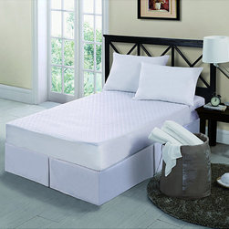 Victoria Classics - 10-piece Twin XL-size Dorm Set - This twin dorm set includes a khaki mattress pad with woven detail, four wash cloths, two towels, pillow, mesh pouf, and laundry bag to hold all items in one place. The mattress pad features a memory-foam center for comfortable sleeping on any bed.