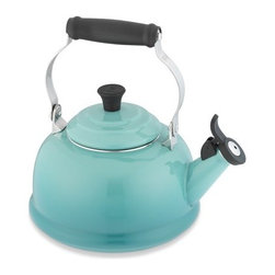 Le Creuset Classic Teakettle, Caribbean - How charming and colorful would this teakettle look on your stove? It comes in all sorts of colors, but I'm partial to the turquoise one shown here. Having other turquoise accents in your kitchen will give the space a decorated feel.