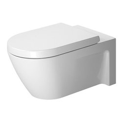 Duravit - Duravit | Starck 2 Wall-Mounted Toilet - Design by Philippe Starck.Made in Germany by Duravit.A part of the Starck 2 Collection. The Starck 2 Wall-Mounted Toilet is the perfect way to modernize any bathroom. Its wall hung design makes cleaning underneath it a breeze and is ideal for small bathrooms. Mount this toilet at any height to meet the comfort of all users. Product Features: