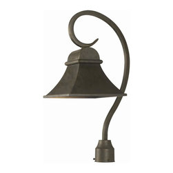 World Imports - Dark Sky 1 Light Outdoor Post Mount in Flemis - Manufacturer SKU: WI6130506. Bulbs not included. Solid Brass construction. Signature Flemish Finish. Dark Sky Revere Collection. 1 Light. Power: 100w. Type of bulb: Medium (Regular). Flemish finish. Back Plate 4.75 in. D. 10 in. D x 25 in. H (10.56 lbs.)