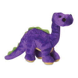 Go Dog - Go Dog Bruto The Brontosaurus Dinosaur Dog Toy with Chew Guard - 770961 - Shop for Dog Toys from Hayneedle.com! This particular purple and green dinosaur isn't much for singing but the GoDog Bruto The Brontosaurus Dinosaur Dog Toy with Chew Guard is going to be your pup's new best friend. They'll love chewing on the soft plush body with internal squeaker and the Chew Guard design with double-stitching helps hold it together through years of intense play. A range of sizes are offered to accommodate breeds of any size or shape.