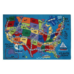 Fun Rugs - Fun Time - Travel Fun Kids Rugs - 39 x 58 in. - Your child's room is a natural extension of them. Add these innovative designs to spruce up any child's decor.