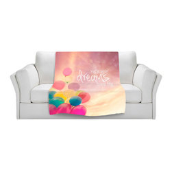 DiaNoche Designs - Throw Blanket Fleece - Sylvia Cook Make Your Dreams Come True - Original Artwork printed to an ultra soft fleece Blanket for a unique look and feel of your living room couch or bedroom space.  DiaNoche Designs uses images from artists all over the world to create Illuminated art, Canvas Art, Sheets, Pillows, Duvets, Blankets and many other items that you can print to.  Every purchase supports an artist!