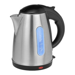 Kalorik - Kalorik Stainless Steel Jug Kettle - Experience the fastest way to boil water with the Kalorik 360° Stainless steel Cordless Jug kettle! with just a flip of the switch, this powerful 1500-watt electric kettle has a concealed heating element that will provide boiling water in a matter of minutes. Faster than the stovetop, and even faster than the microwave! Once water reaches a boil, the kettle will automatically shut off and with the stay-cool non-slip handle, the kettle lifts off its base for easy, cord-free pouring.