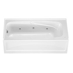 "American Standard - American Standard 1748.218.020 Colony Bath Tub, White - American Standard 1748.218.020 Colony Bath Tub, White. This whirlpool tub features a high-gloss acrylic construction with fiberglass reinforcement, an integral apron with removable access panel, an integral 3-sided tile/water retention flange, a molded in backrest, dual molded-in armrests, a 1 HP single speed self-draining pump/motor, 6 multi-directional flow-adjustable jets, a deck-mounted air On/Off switch, two air volume controls, and a faactory installed/tested whirlpool system. This model measures 66"" by 32"", it stands 19-1/2"" from the floor, and it has a left-handed outlet."