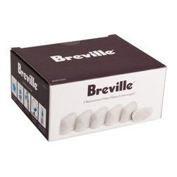 Breville - Breville Water Charcoal Filters - Set of 6 - Coffee is about the beans and the roast, sure. But coffee is nearly 99 percent water. Let your water's true clean nature shine through. This set of six charcoal filters is designed to fit Breville espresso and single cup brewer models BES900XL, BES860XL, BES840XL, BKC700XL and BKC600XL.