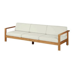 Barlow Tyrie - Linear Teak Three Seater - Natural