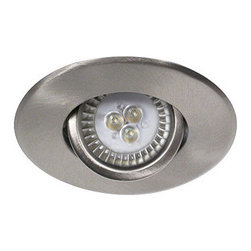 "Bazz Lighting - Bazz Lighting 300LED5B Brushed Chrome Recessed LED Recessed LED Series - Bazz 300LED5B Recessed LED Series Single-Light 4-Inch Recessed Light Fixture for Interior Installations, Finished in Brushed ChromeBazz 300LED5B Features:Uses (1) 5 watt GU10 base led bulb (included)Product dimensions: 4-3/8""H x 4-1/2""W x 8-3/8""LRecessed lighting kit contains both trim and housing.Insulated ceiling approved - no insulation box necessaryBrushed chrome trim with brushed chrome directional baffleDry location ratedEnergy saving design5 watt, 300 lumen, 3100K temp LED bulb moduleCan be installed with dimmers4-1/2"" trim diameter3-7/8"" hole diameterContractor pack - includes 4 housings and trimsFounders Guy and Simon Benghozi are the driving force behind BAZZ. As brothers, they help each other design and develop exquisite lighting products. Their creativity, innovative spirit, and taste for modern designs has strongly influenced all of BAZZÂ's collections throughout the years. From their humble beginnings, designing products on a sketch board, to the computerized production line of today, BAZZ luminaires have always revealed a unique feeling... one that has helped define the Canadian residential lighting industry for over 30 years."