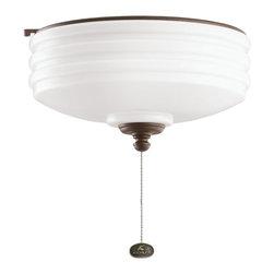 DECORATIVE FANS - KICHLER FANS 380901TZP Tannery Bronze Ceiling Fan Light Kit - DECORATIVE FANS 380901TZP Tannery Bronze Ceiling Fan Light Kit