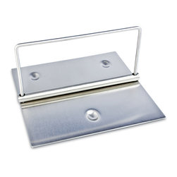 Cuisinox - Cuisinox 7 1/2 x 7 1/2 inch Patio Napkin Holder - Display your fancy napkins as they were meant to be seen with this handy patio napkin holder. The weighted bar helps keep napkins in place when being used outdoors.