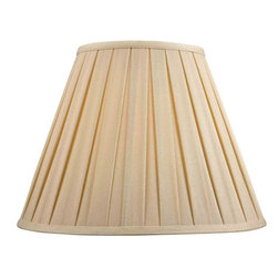 "Dolan Designs - Full Size Natural Linen Box Pleat Shade 8"" - Elegant and Contemporary with box pleat in a Naturl linen shade."