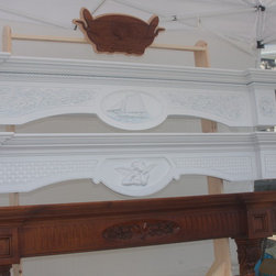 Floating Mantel / Shelves - Solid Maple floating mantels / shelves with carvings.