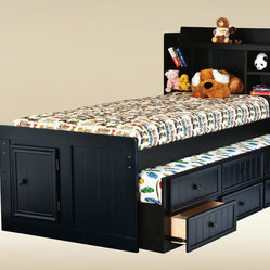 Twin Size Combo Trundle with 3 Drawers in Optional Finish