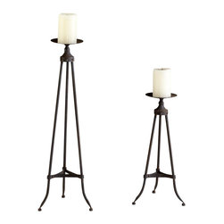 Cyan Design - Milton Candlesticks - Small milton candlesticks - raw steel