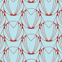Tempaper - Caribbean Blue and Coral Red AL001 Alto Self-Adhesive Wallpaper - Caribbean Blue and Coral Red AL001 Alto Self-Adhesive Wallpaper is self-adhesive and has 6.5 inches of pattern repeat. This self-adhesive wallpaper is revolutionary in the home decor industry. It can be easily removed, repositioned or readjusted to match your style. It is the perfect wallpaper for renters, or people who just like to change their home decor often! Liven up any room as frequently as you like with self-adhesive removable wallpaper. Collection name: Tempaper Size of each double roll is 20.5 inches x 33 feet. Each double roll covers about 56.37 square feet / 5.24 square meters. Wallpapers are priced per single roll, but packaged and sold in double rolls only. Please order the number of single rolls that you will need, but you must order in multiples of two (even numbers) only.