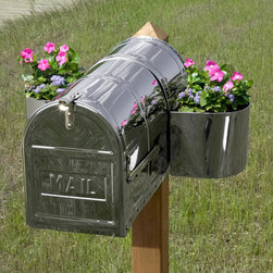 Stainless Steel Mailbox Planter - Create a cheerful scene at your mailbox with this Stainless Steel Mailbox Planter. This mailbox planter caddy is made to fit the Bartlett, Stevenson and Woodward mailboxes, sold separately.